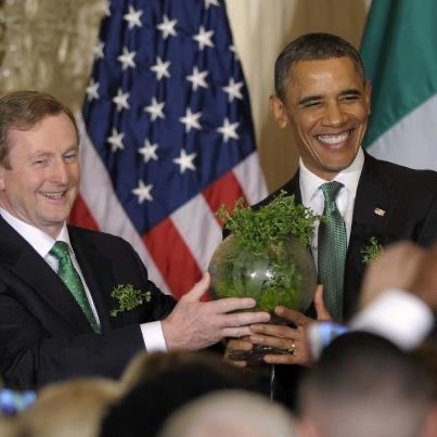 obama and enda kenny