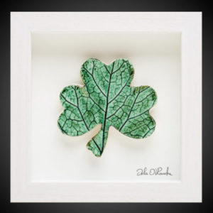 Ceramic framed shamrock