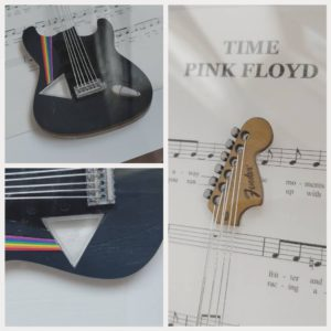 "Mixed media music artwork of song ""Time"" by Pink Floyd"