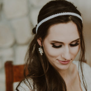 CHARLOTTE Delicate White Beaded Wedding Headband - Touch of Venus Jewellery