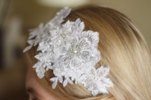 COCO Vintage Embellished Appliqué Wedding Headband - Touch of Venus Jewellery