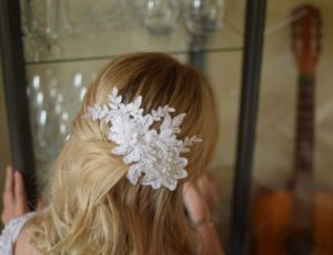 COCO Vintage Embellished Appliqué Swarovski Pearls Wedding Hair Comb Style - Touch of Venus Jewellery
