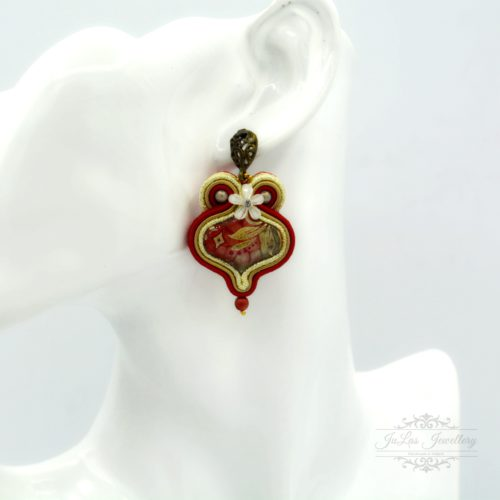 Flaming necklace and earrings