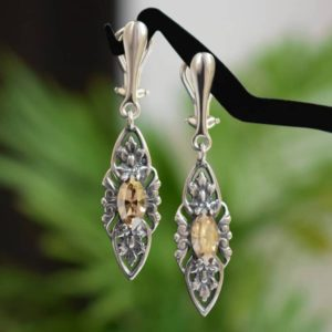 VIENNE Retro Golden Shadow Swarovski Crystal Earrings - Touch of Venus Jewellery